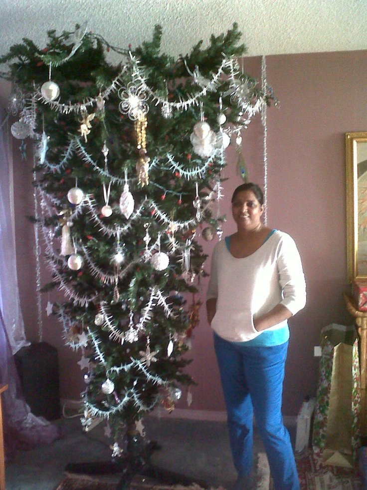 An upside down Christmas tree!