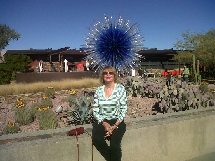 Your's truly at Beautiful Garden's in Phoenix!!!