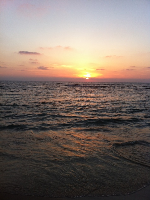 Beautiful sunset in Israel