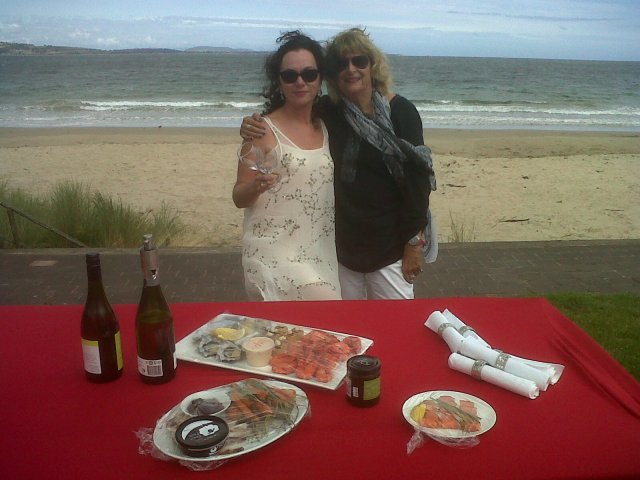 Friend ,Mary and Beach picnic, Christmas Day!