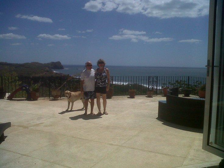 Friends Tuey and David, on beautiful property