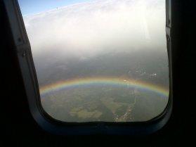 Rainbow from plane!!