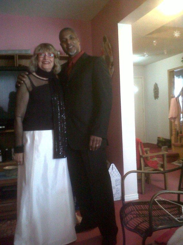 Kessel, very old friend, accompanied me to Megan's celebration!