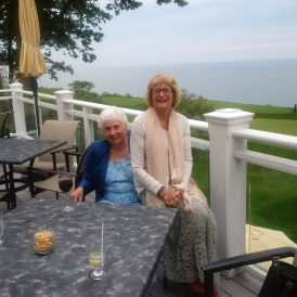 With my great friend Prue on her 75 th Birthday, at the beautiful Hunt Club on Lake Ontario!