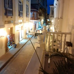 From my terrace in the walled city of Cartegena!