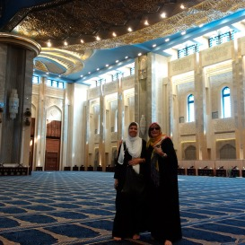 At the Mosque, beautiful Kuwait City!