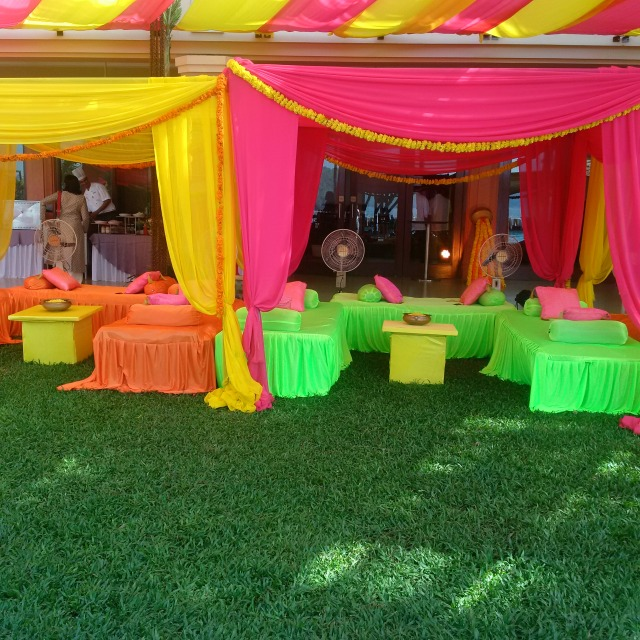 Lounge area for guests at Indian wedding!