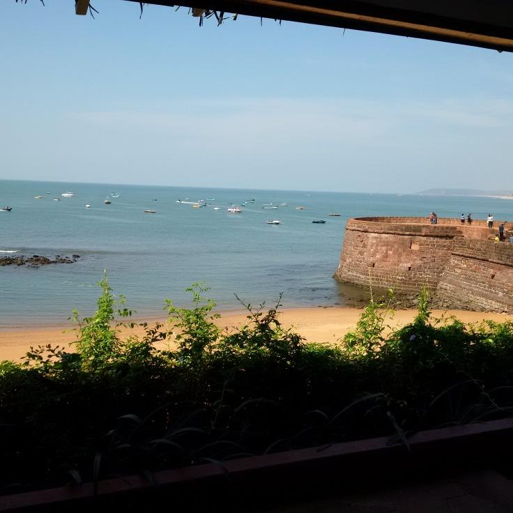 View from terrace at Taj Hotel!