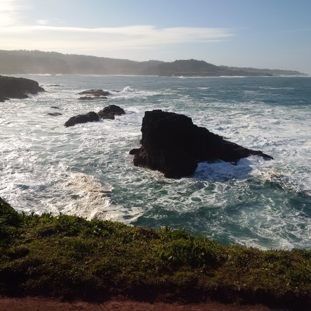 Beautiful Pacific Ocean at Mendocino in Northern California