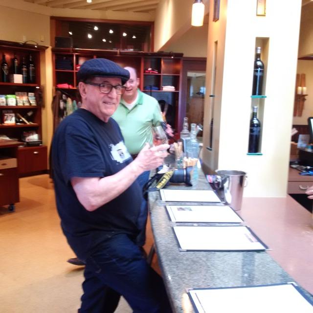 Friend of 30 years Michael wine testing!!