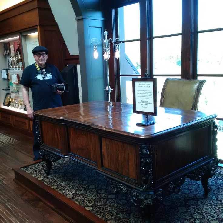 The desk from movie Godfather that Marlon Brando sat behind!! At the Frank Coppola Winery!!