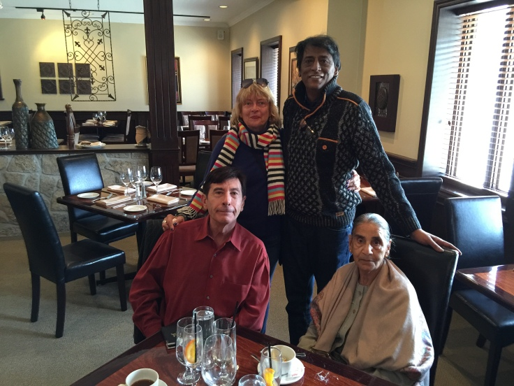 Cambridge Ontario, lunch with friends Gordon, Mickey and Mickey's lovely Mom!