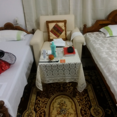 Part of my royal suite at Puri Retreat Centre
