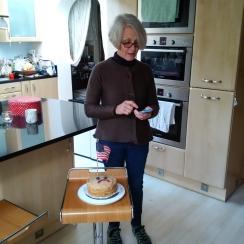 Sarah! My landlady, made cake pouting against election of Trump!!