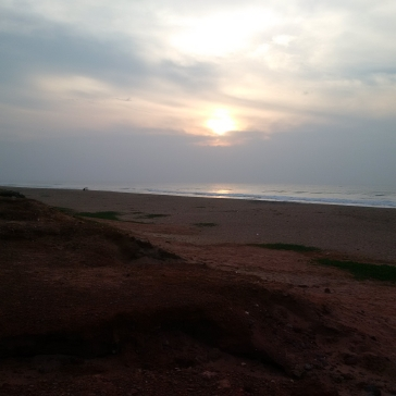 Sunrise on the Bay of Bengal!