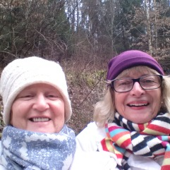 With good and old friend, Denise, in the forest!!