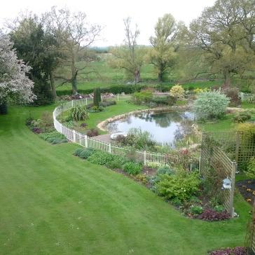 Gardens and pond!
