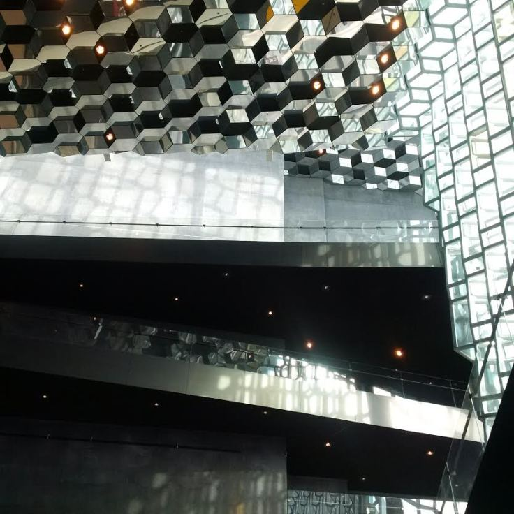 Ceiling at Harpa Centre ( concert hall)