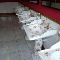 Beautiful sinks at the 5 star Balmoral Hotel!