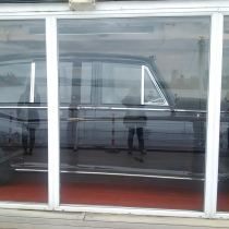 Queen's car in garage (as they call it) on royal ship, Britannia!