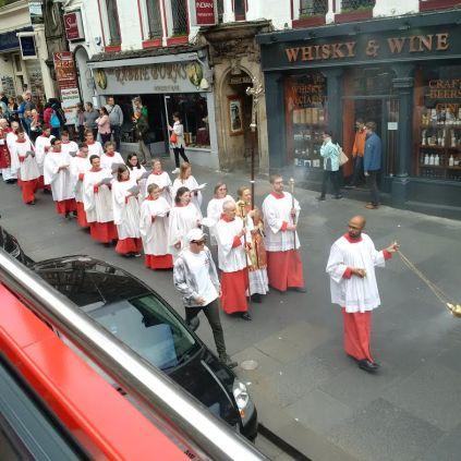 Street church service on Sunday Morning!
