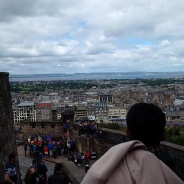 View of beautiful Edinburgh from the castle!