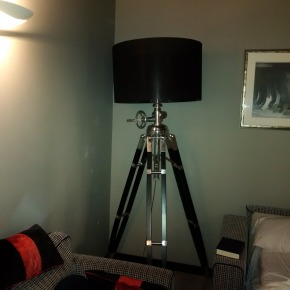 This lamp was spectacular in room, it was movie camera stand, even cranked up and down!