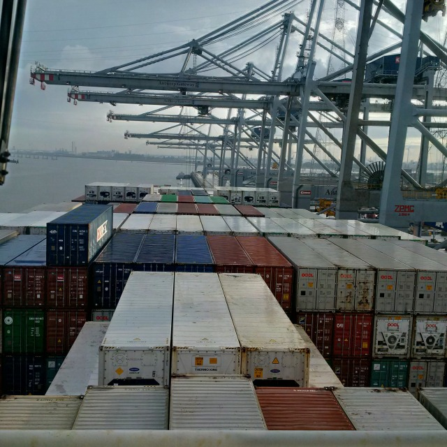 Containers with Cranes!
