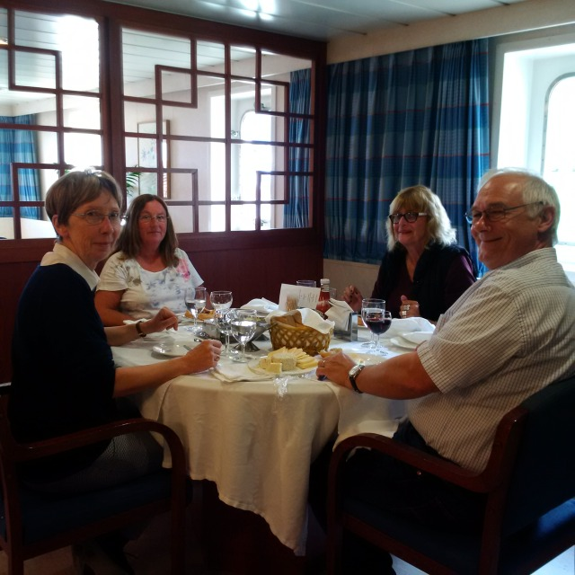 Lunch on ship, wonderful French Chef!!