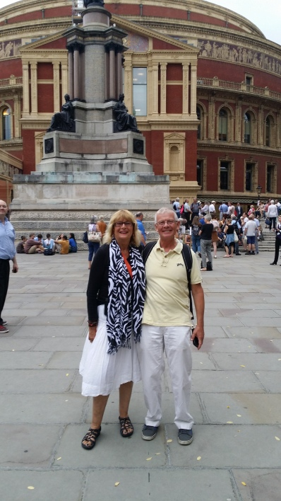 With British Friend Simon, at Royal Albert Hall