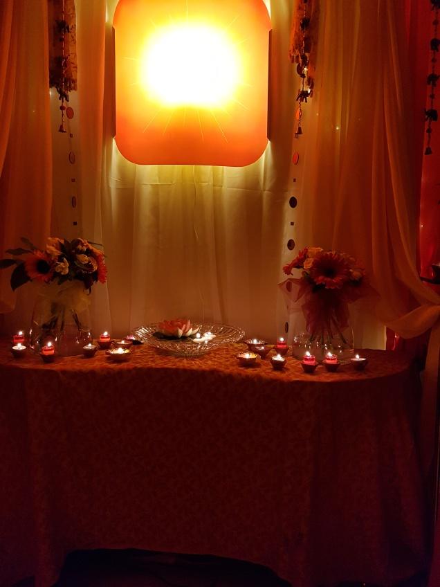 Beautiful Diwali at BK Centre