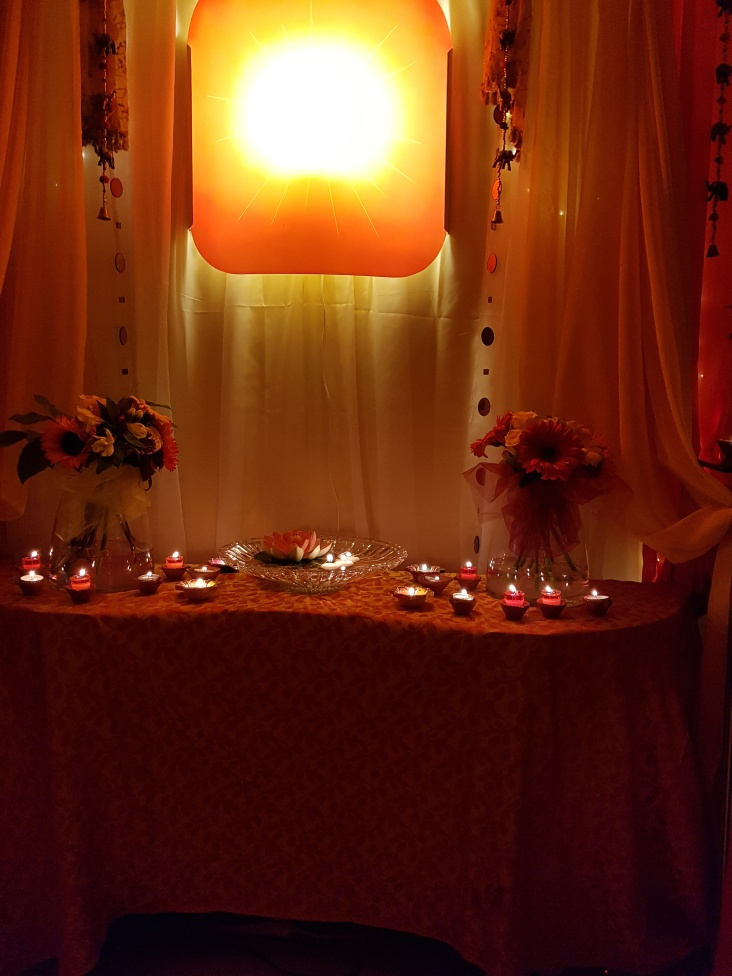 Beautiful Diwali at BK Centre