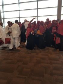 Interesting scene in transit in Abu Dhabi