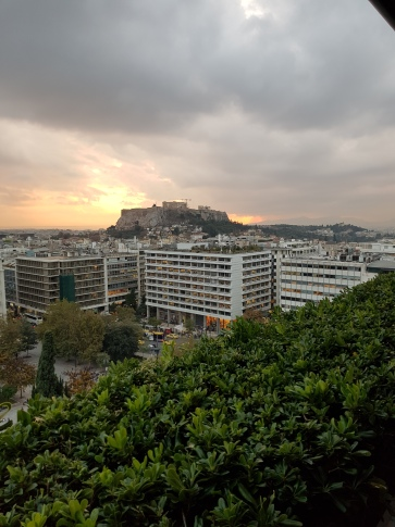Beautiful Sunset overlooking Athens
