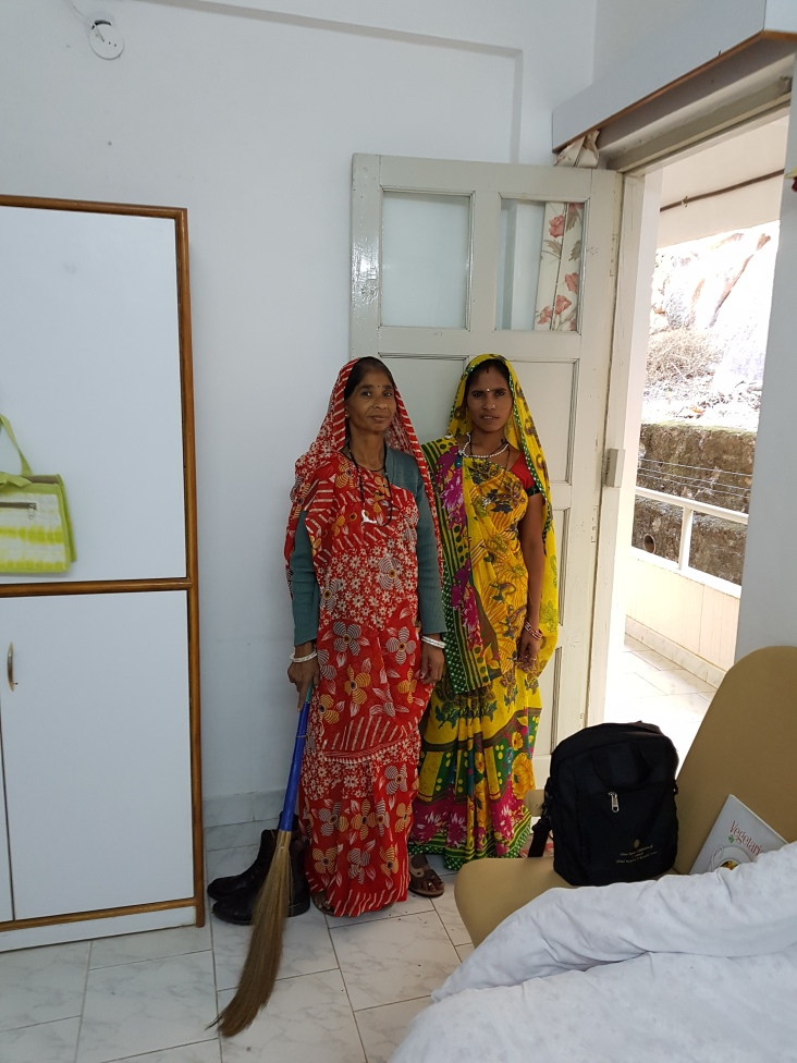 The two lovely ladies that take of me in India!