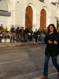 Athens under Police and Military watch and all stores closed. Happens every year on November 17th