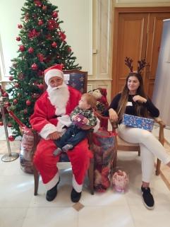 Sad looking Santa Claus
