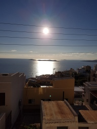 View from Terrace of friends in Syros
