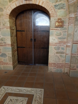 Beautiful doors to the WC in the Monastery