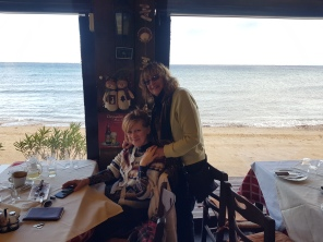 Lunch by the sea with artist friend Cathy (Greek Canadian)