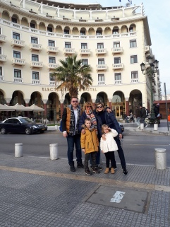 Wonderful friends Ana, Velko Bisera and Gorazd. My hosts in Thessaloniki