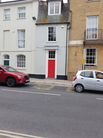 House with red door, where I will be living in Dorset!