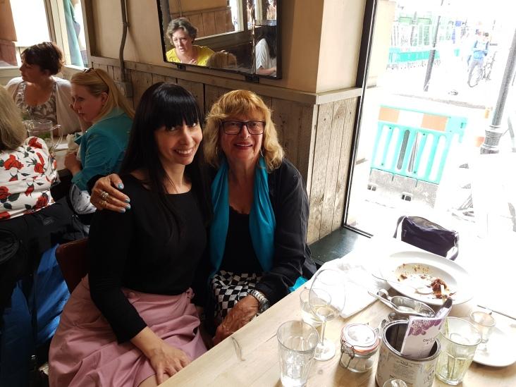 With lovely Greek friend in London