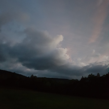 Early morning sky in the New York state mountains!