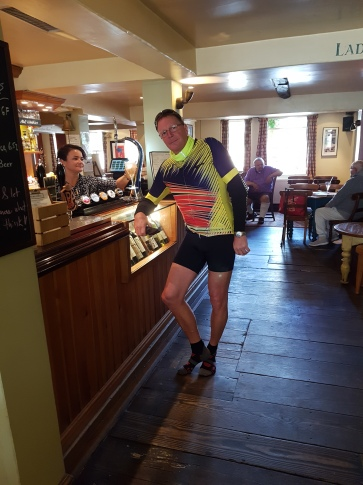 Friend Paul from Cambridge UK in jazzy cycle outfit!