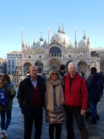 Greg and Antonio in Venice Wonderful friends from Canada