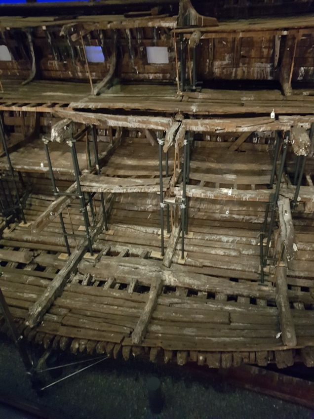 Portsmouth UK, restored ship The Mary Rose, wonderful rebuilt ship that museum has been built around One of the best exhibits that I have seen in the UK