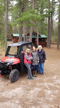 Erin and Mom in front of the coolest machine!