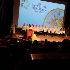 School children opening the Spirit of Humanity forum!