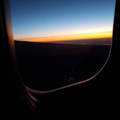 Sunrise from plane on way to Iceland!